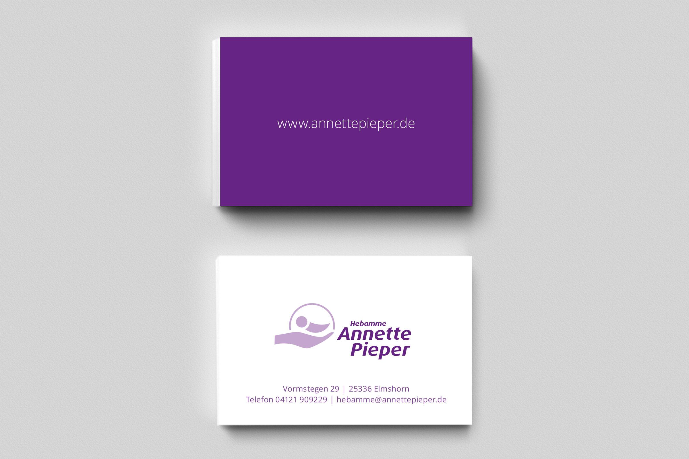 Visitenkarten Annette Pieper