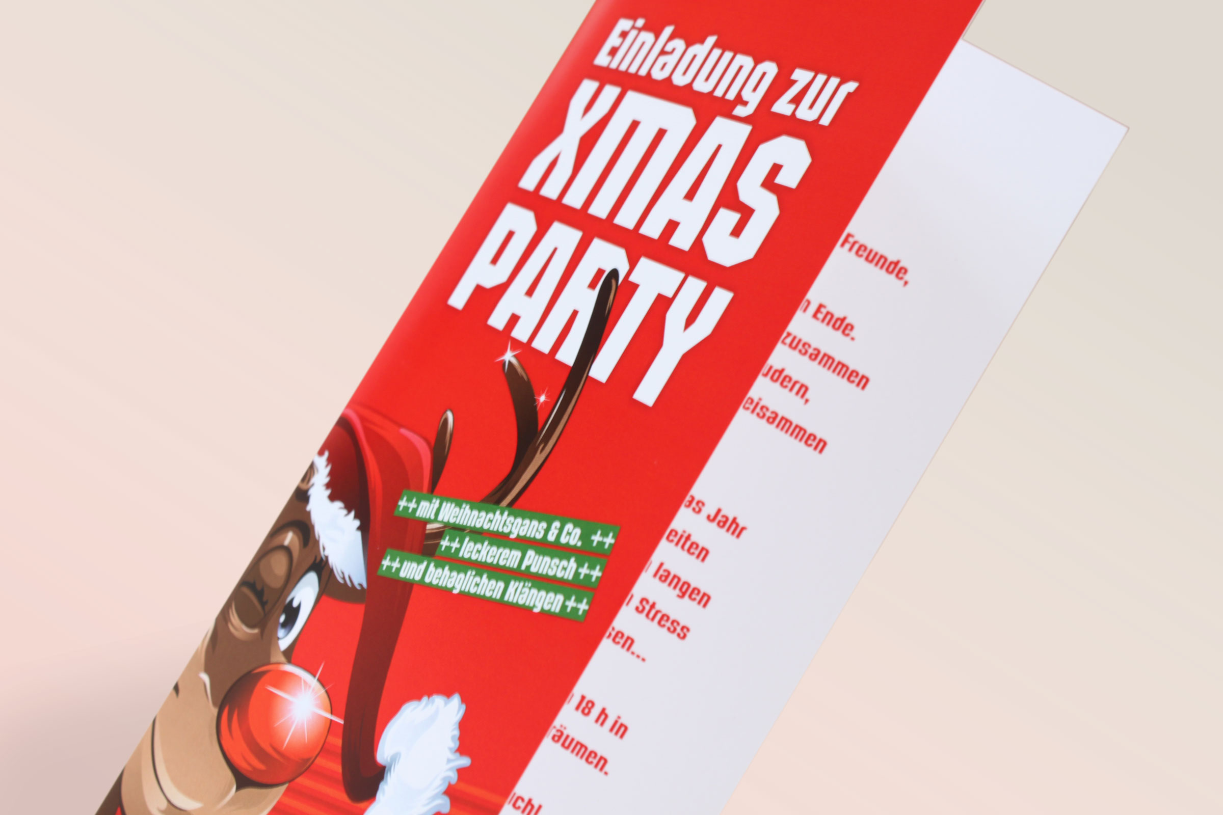 Einladungskarte XMasParty by WIWA Design