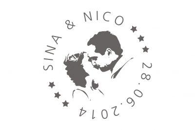 Hochzeitslogo Sina Und Nico