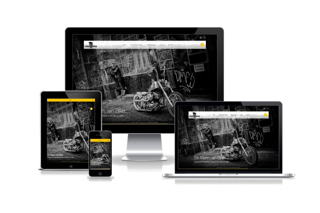 Starchoppers68 - responsive Webseite