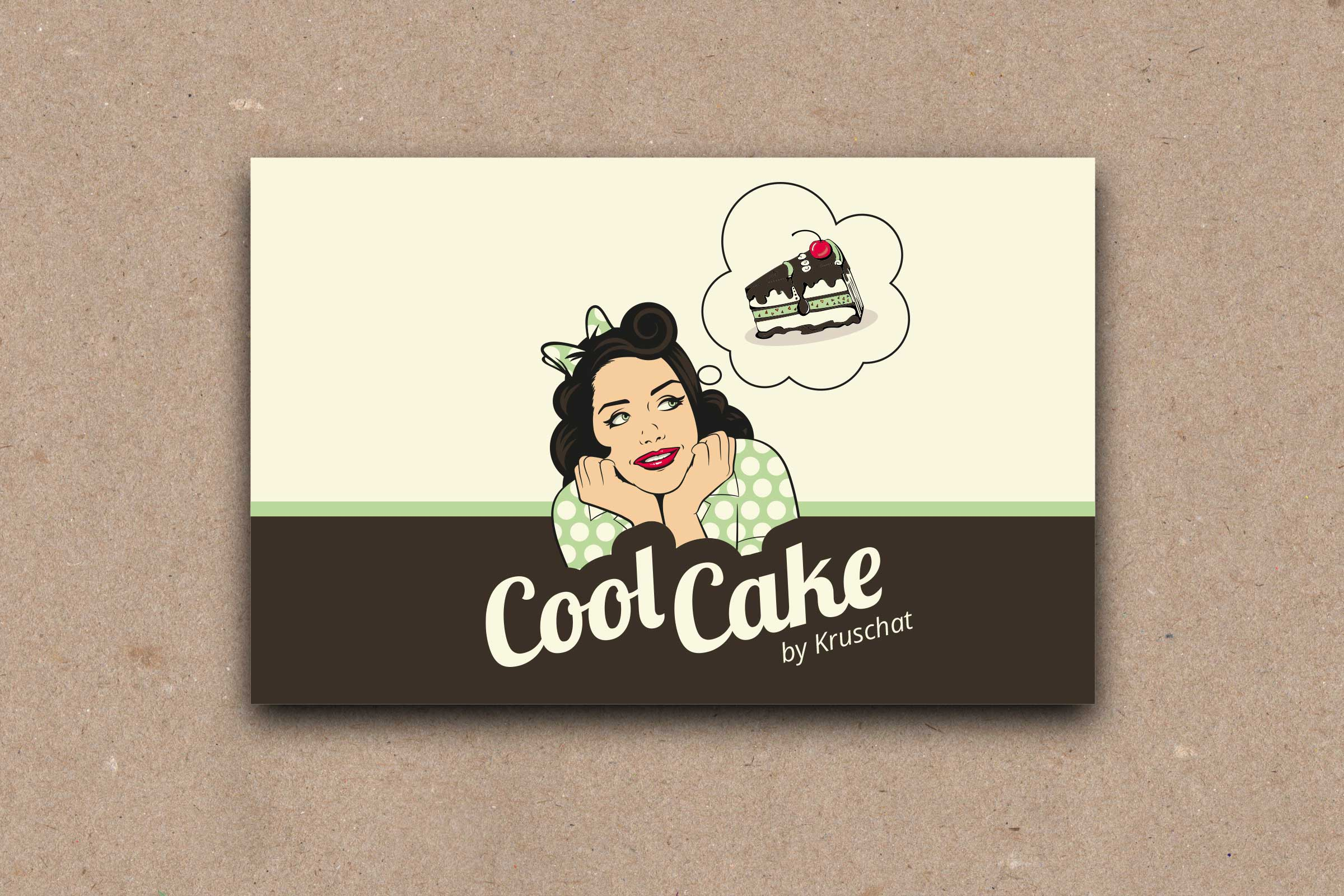Logo Und Vistenkarte Für Cool Cake