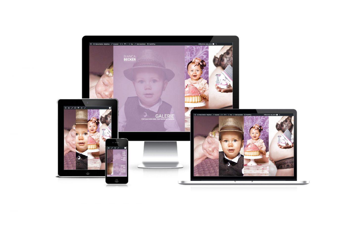 Responsive Webdesign für bb-babyfotos.de