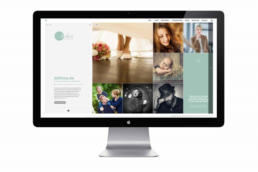 Responsive Webdesign für dsfotos.de by WIWA Design