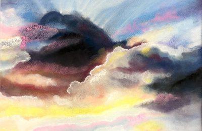 "Pastell ""Wolkentreiben"", Oktober 2015"