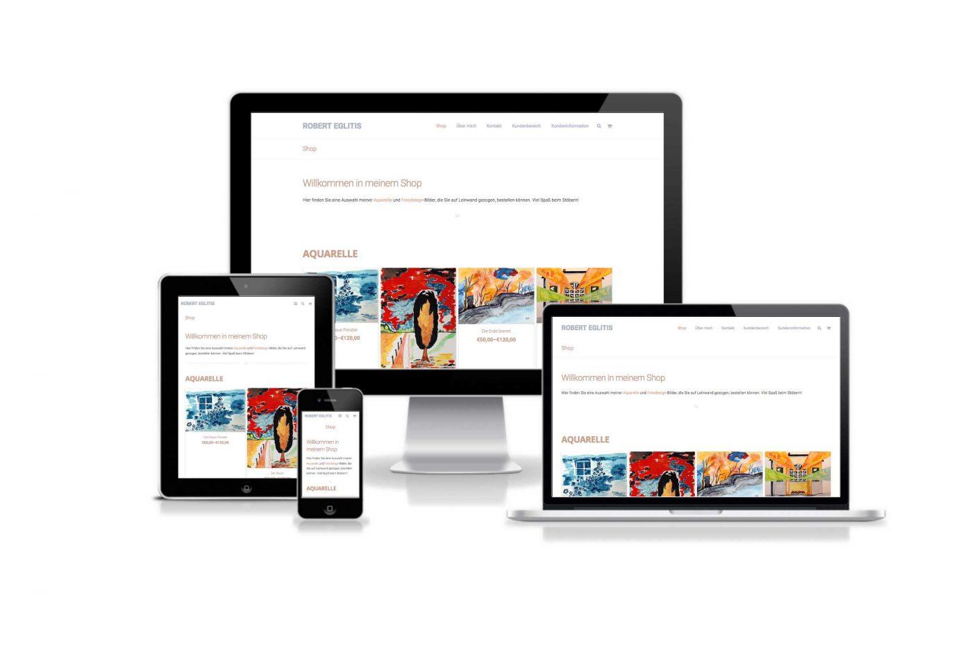 Responsive Webdesign für Robert Eglitis