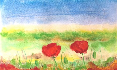 """Pastell """"Sommerwiese"""""""