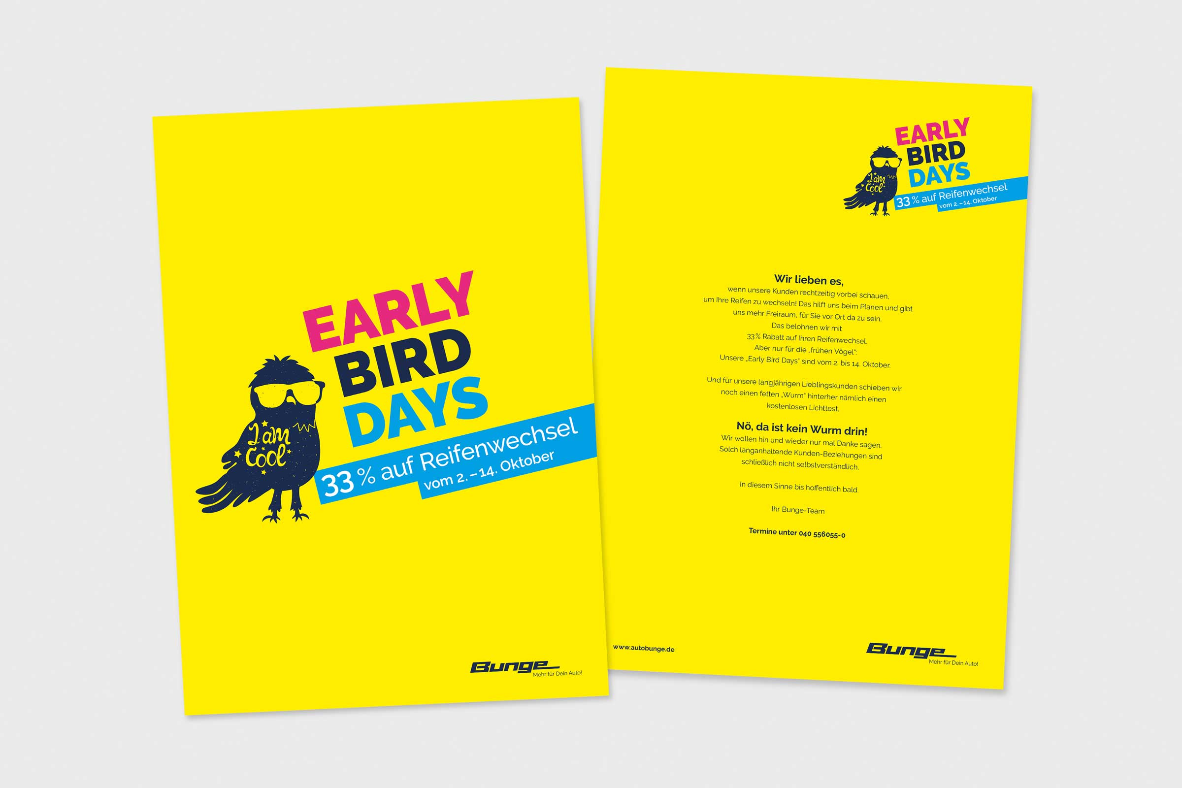 Early Bird Days, Kundenmailing