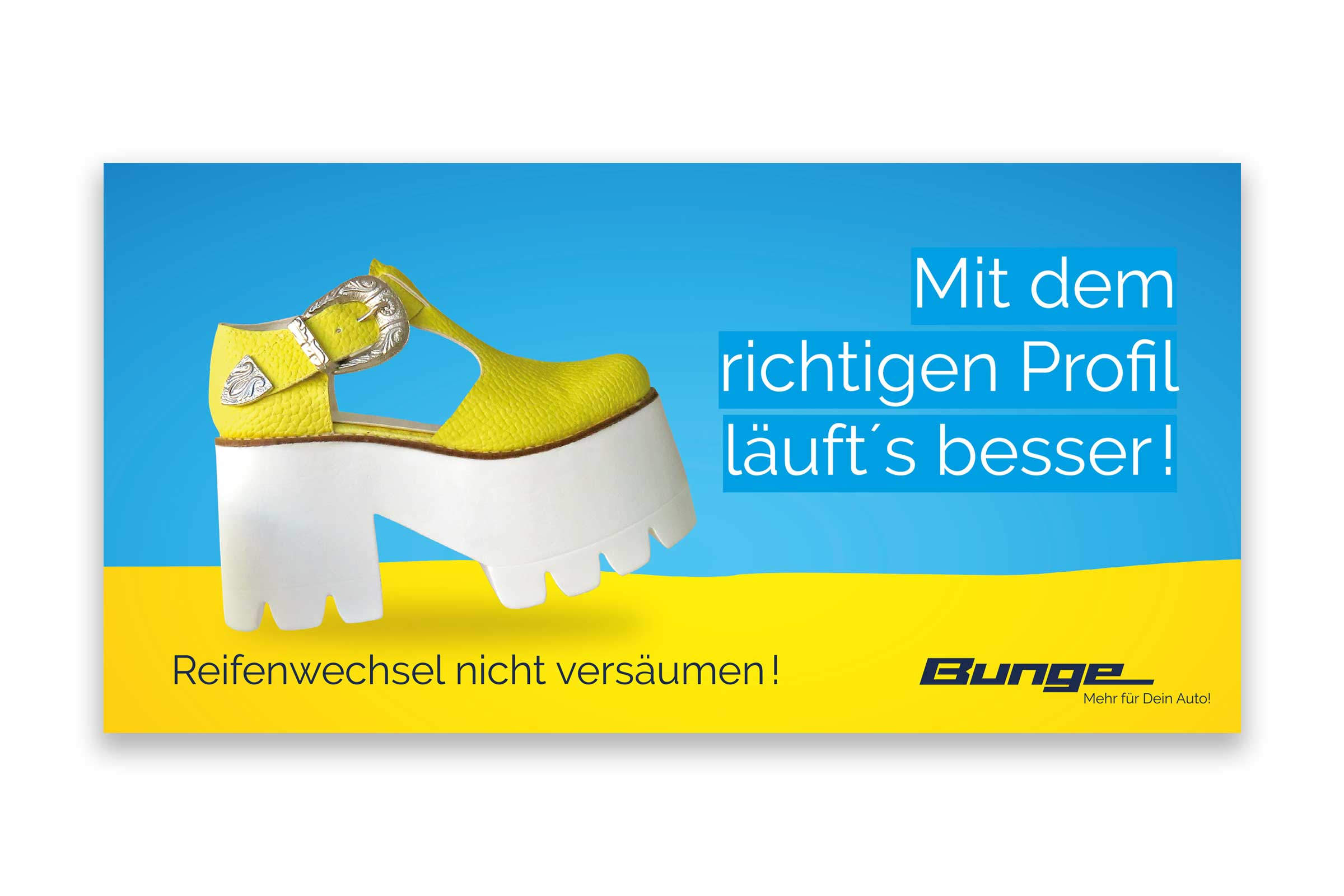 Reklame Reifenwechsel