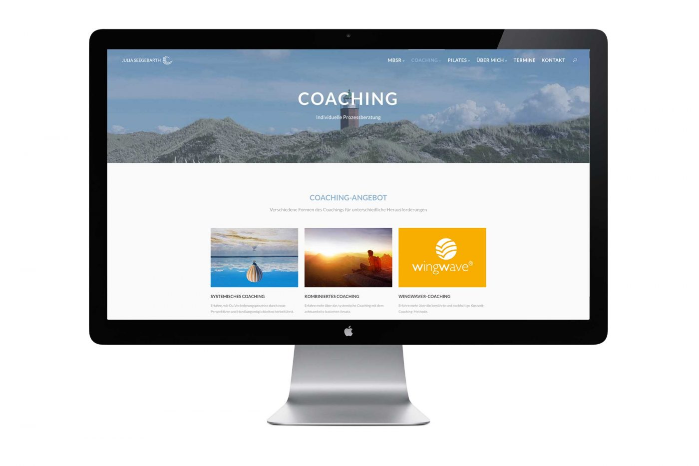 Webseite Julia Seegebarth – Coaching