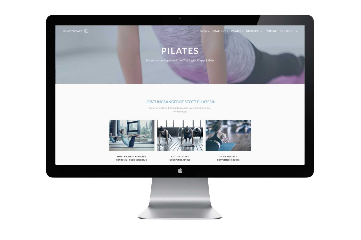 Webseite Julia Seegebarth – Pilates