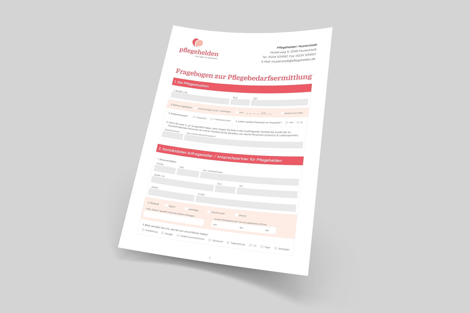 Pflegehelden – Fragebogen zur Pflegebedarfsermittlung