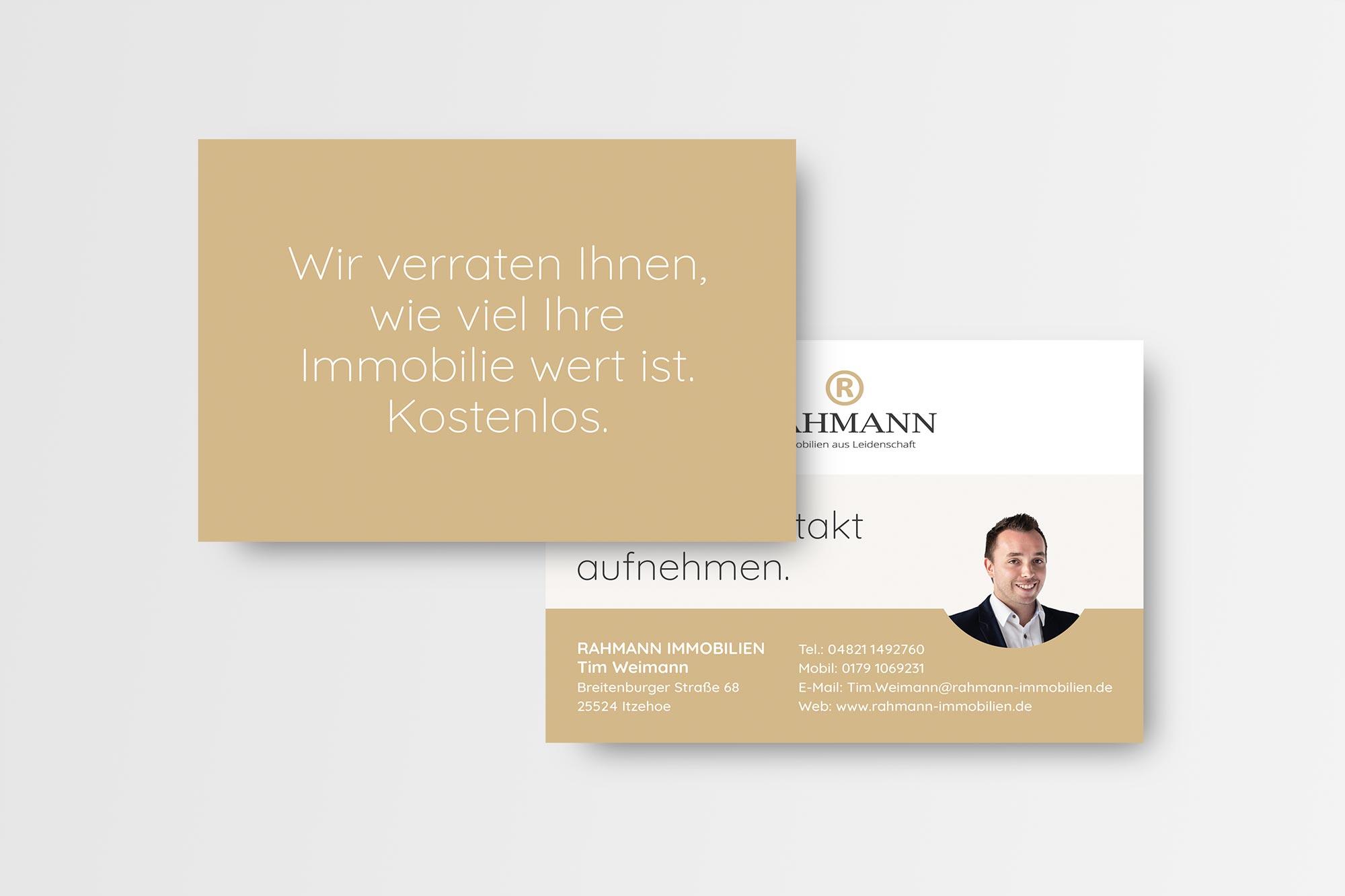 Postkarte Rahmann Immobilien