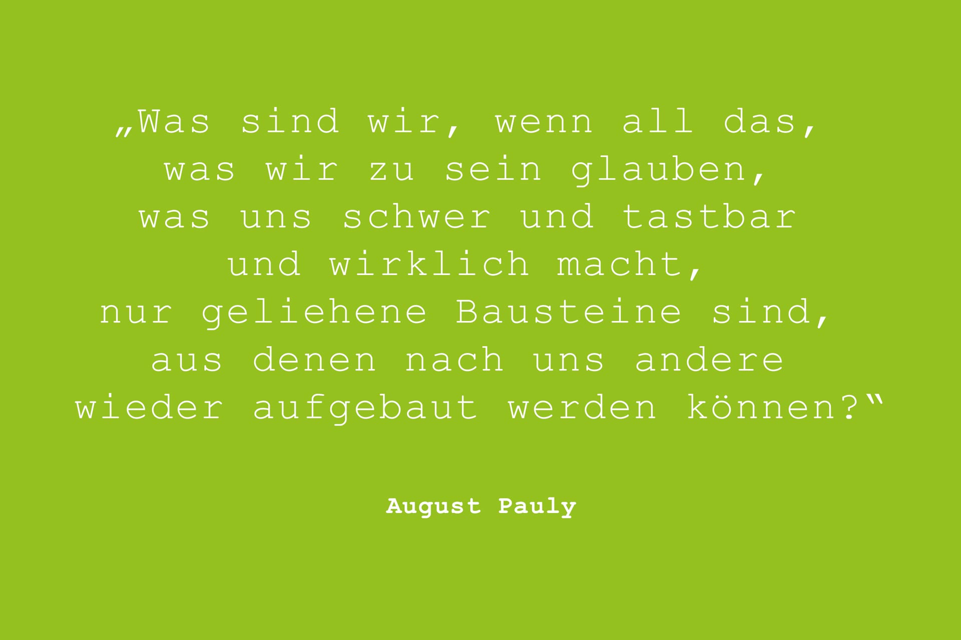 Zitat August Pauly