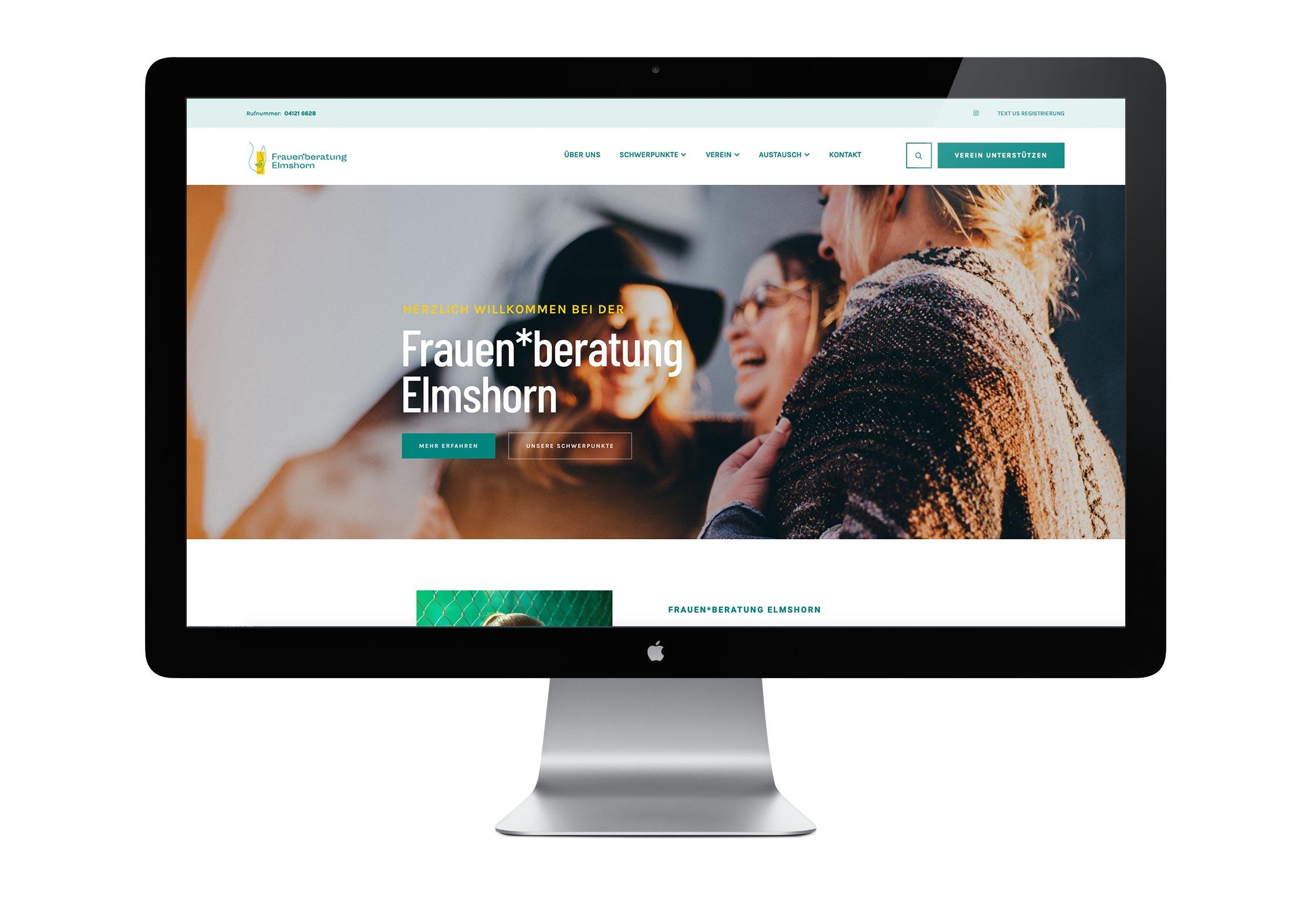 Webseite Frauenberatung Elmshorn