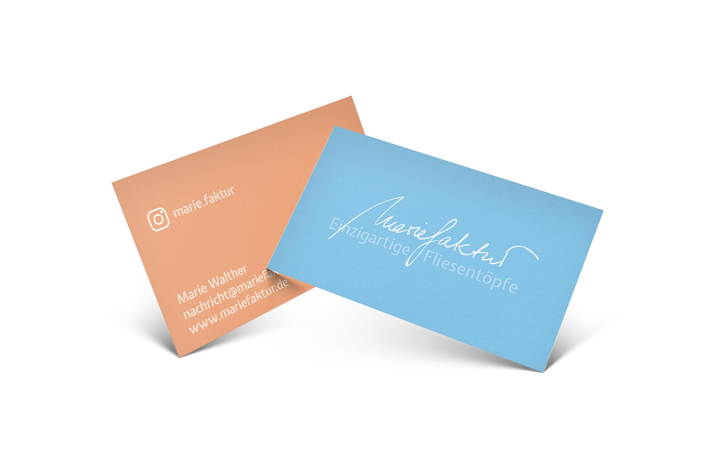 Visitenkarten Mariefaktur